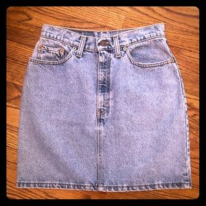 Vintage High Waist Levis 511 Jean Skirt Size 7